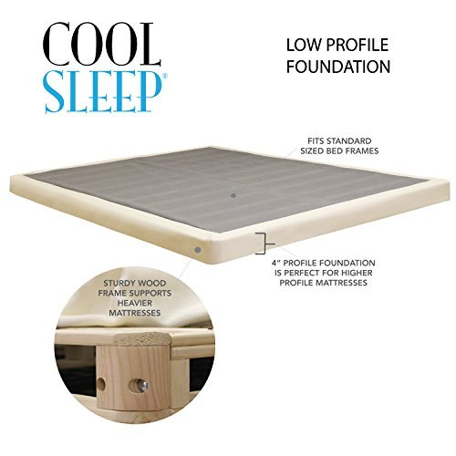 "Cheap Lifetime Sleep Products 4"" Low Profile"